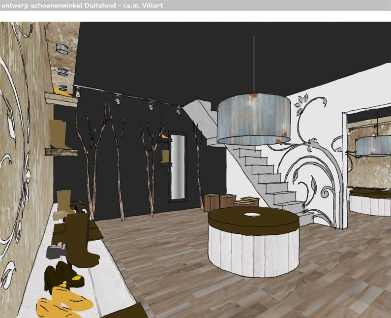 Q creationz interieur styling artist impressions for Interieur winkel